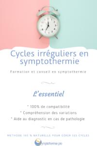 compatbilite cycles irréguliers et symptothermie