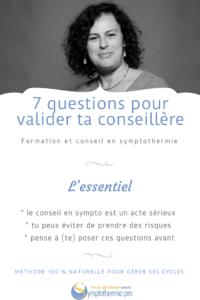 7 questions pour valider ta conseillère en symptothermie et sa compétence
